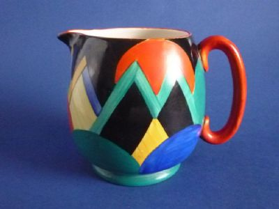 Susie Cooper Gray's Pottery 'Moon and Mountains' Pattern 7960 Paris Jug c1928 (Sold)